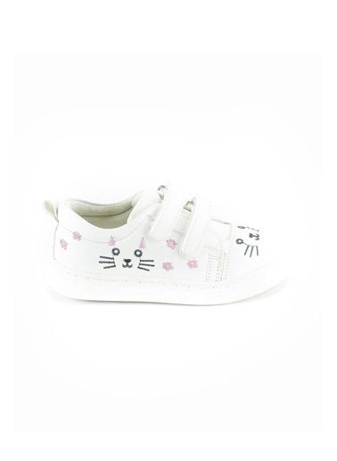 minipicco Kız Cocuk Ortopedik Destekli Çocuk Ayakkabı Beyaz
